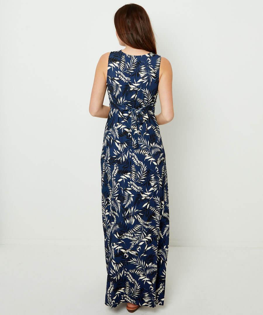 Printed Maxi Dress Model Back