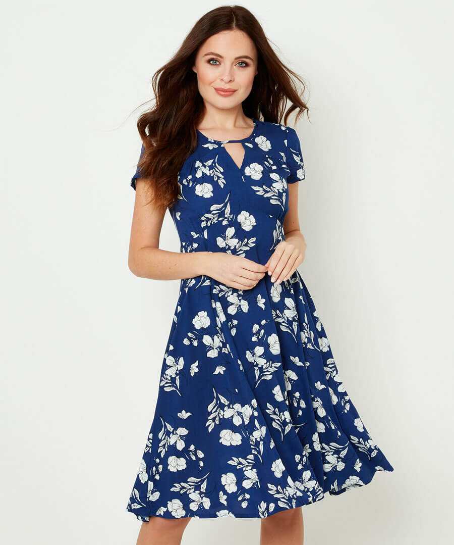 Flattering Retro Dress Model Front