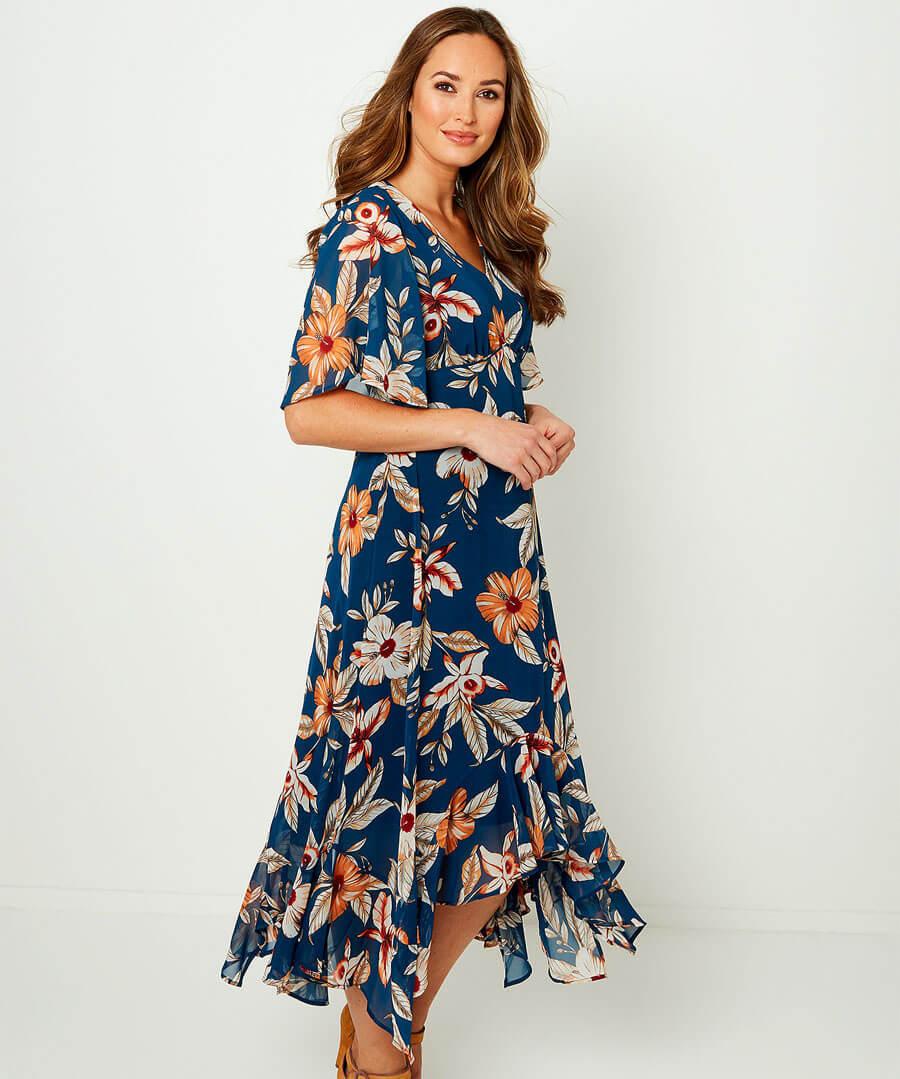 Flirty Feminine Dress Model Front