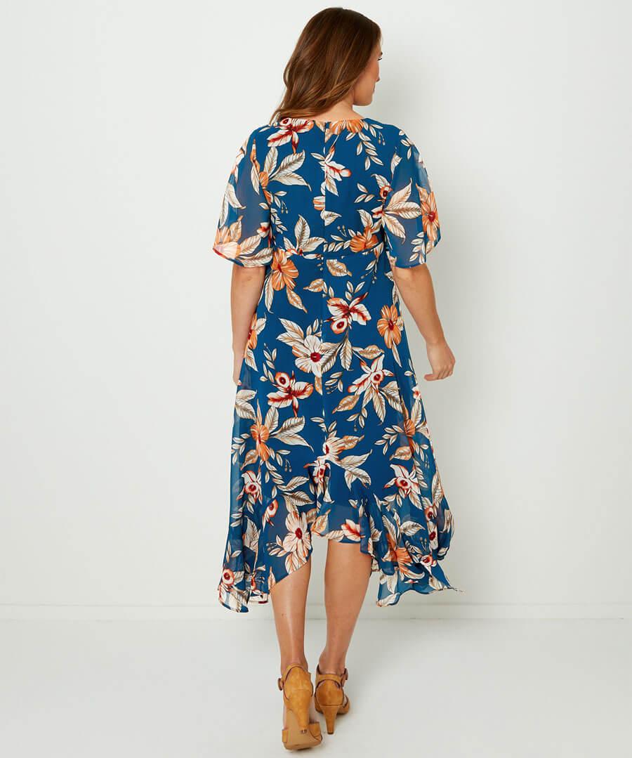 Flirty Feminine Dress Model Back