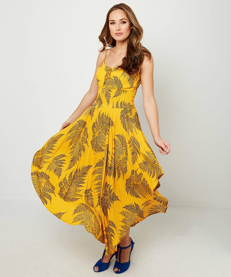 Dippy Hem Summer Dress Model Front