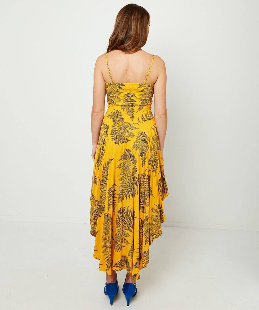 Dippy Hem Summer Dress Model Back