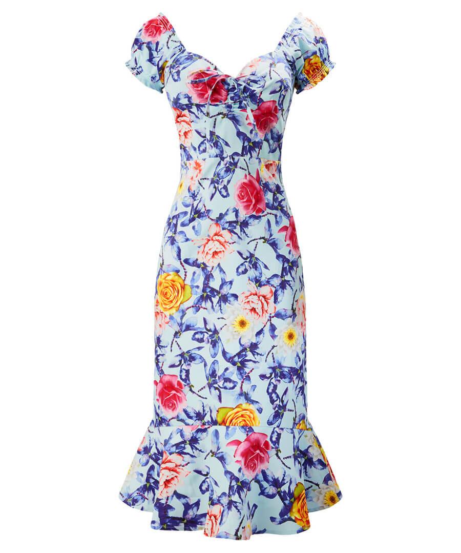Fluted Hem Dress