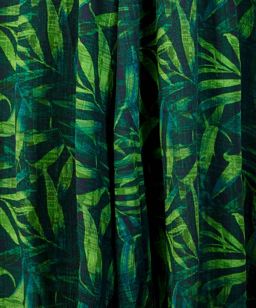 Wowing Palm Leaf Dress Back