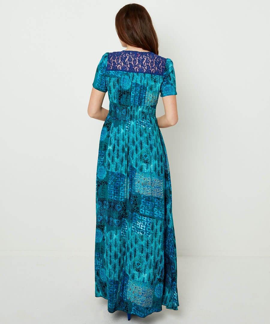 Funky Flattering Dress Model Back