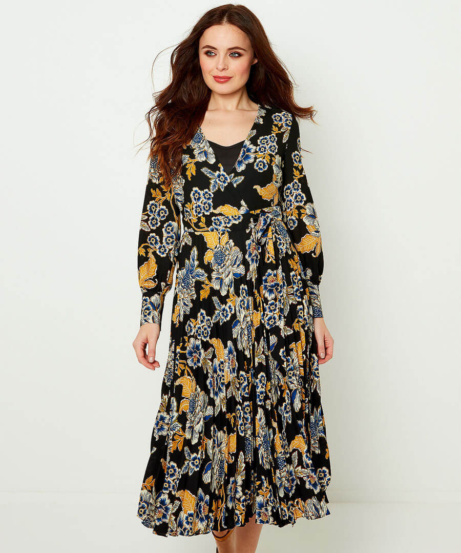 Capsule Collection Printed Dress Model Front