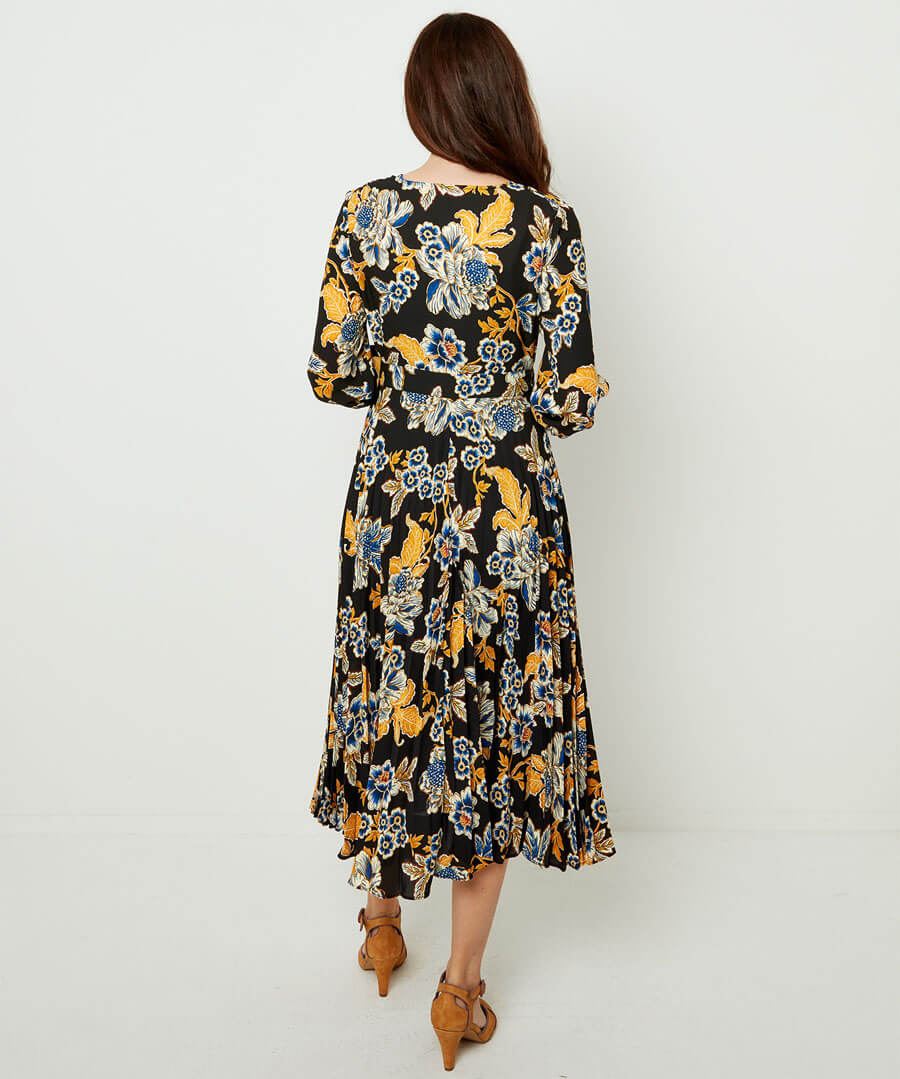Capsule Collection Printed Dress Model Back