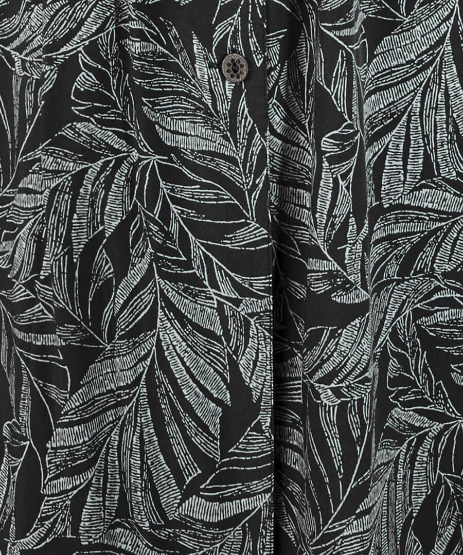 Leafy Shirt Dress Back