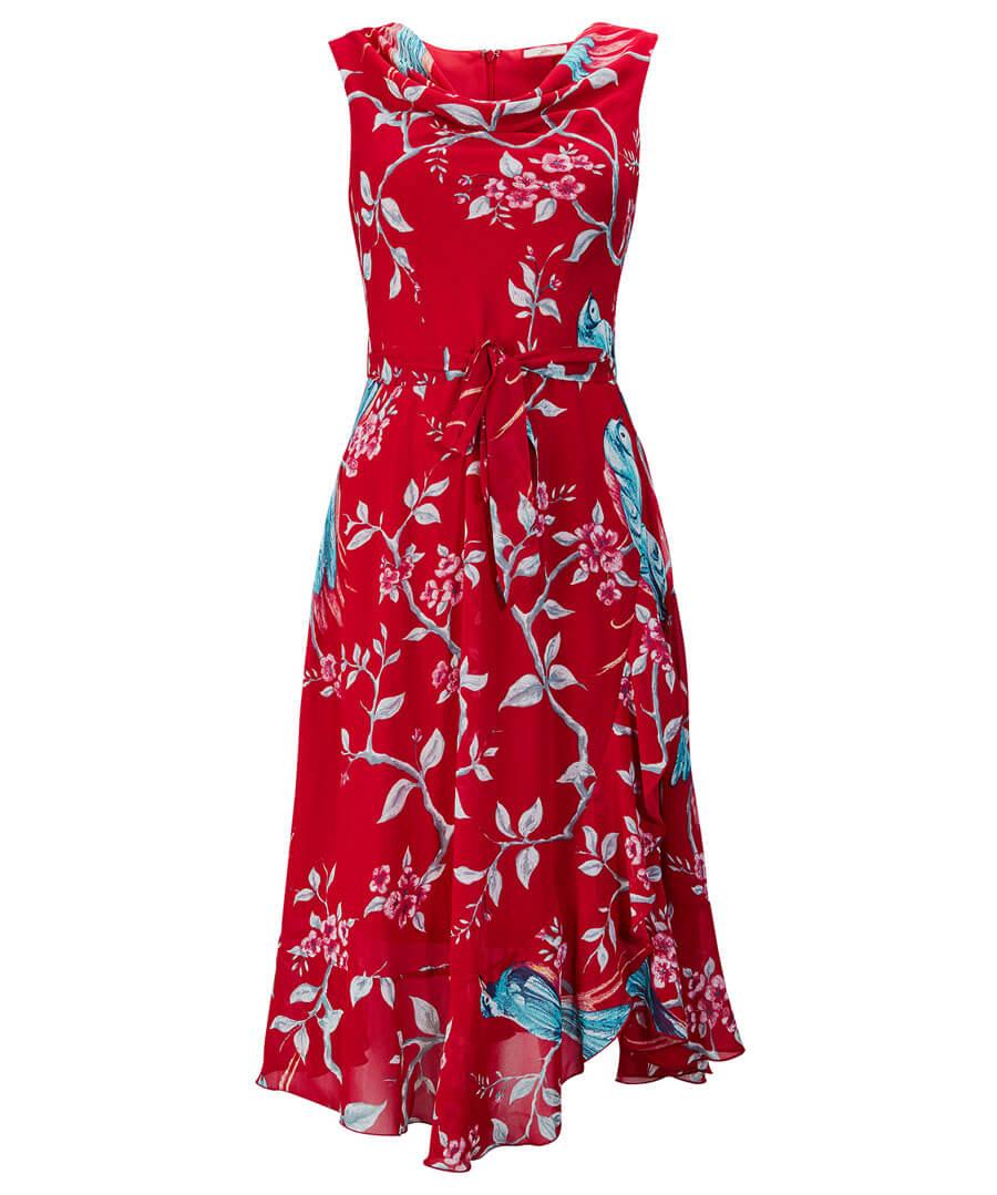 Cowl Neck Dress Model Front