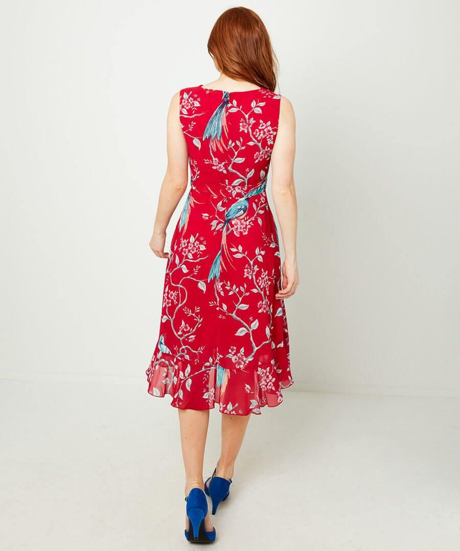 Cowl Neck Dress Model Back