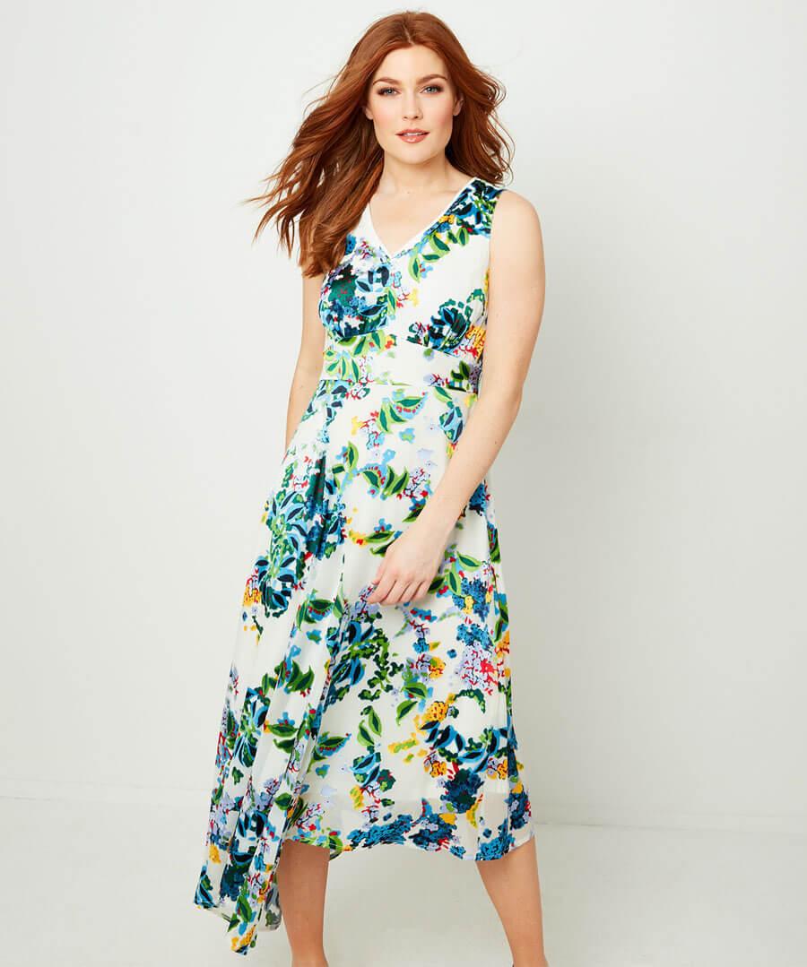 Summer Devore Dress Model Front