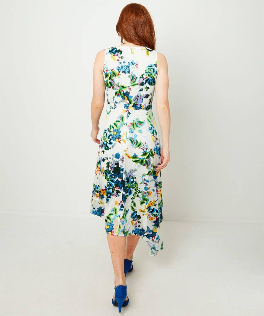 Summer Devore Dress Model Back