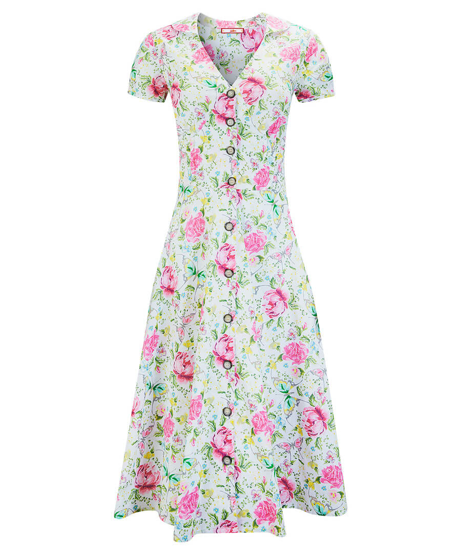 Floral Butterfly Dress Model Front