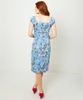 Vintage Floral Fitted Dress
