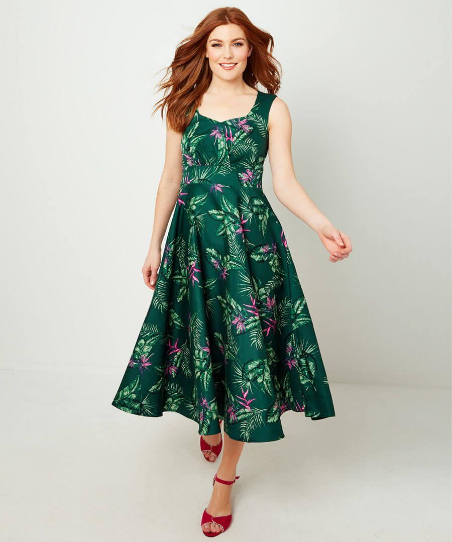 Full Skirted Vintage Dress