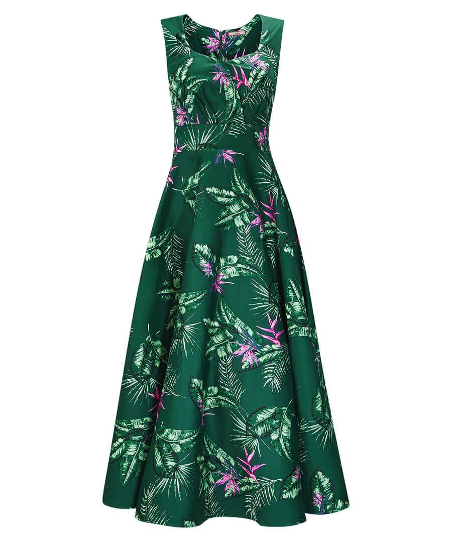 Full Skirted Vintage Dress Model Front