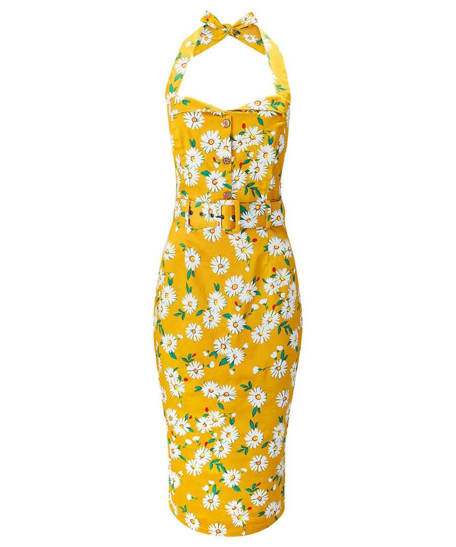 Heavenly Halterneck Dress Model Front
