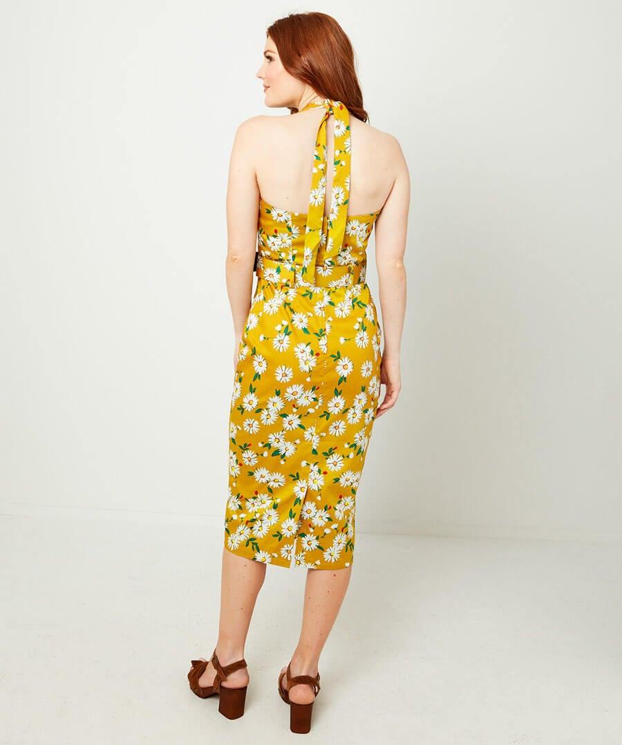 Heavenly Halterneck Dress Model Back