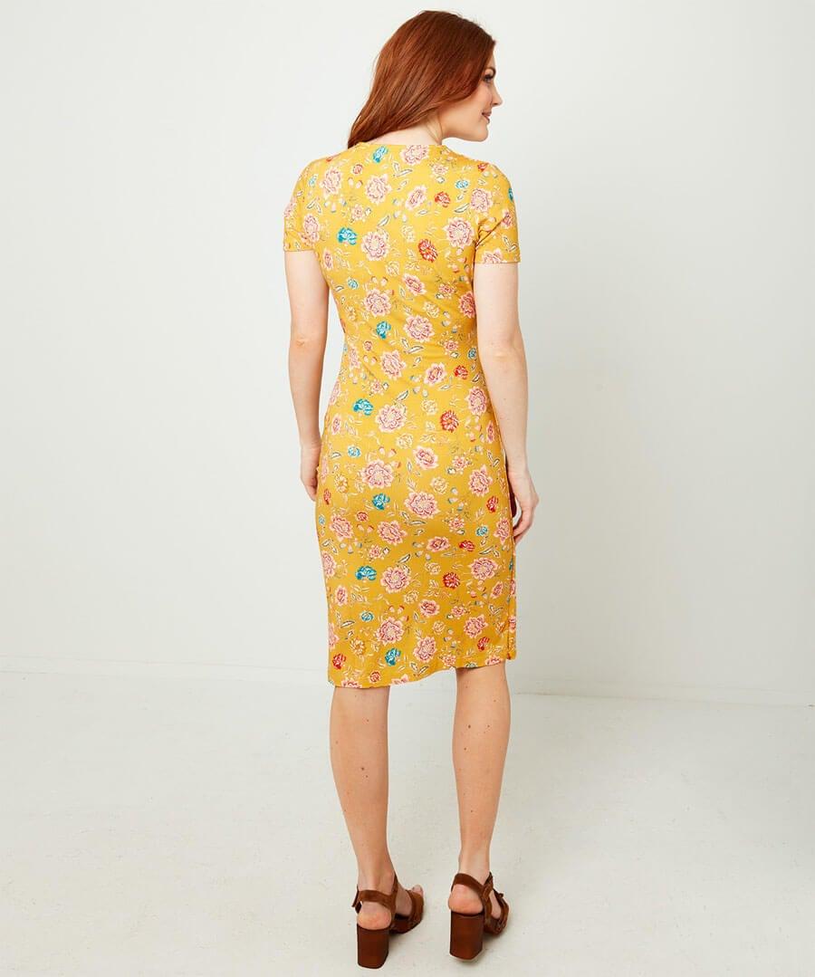 Flirty Flattering Dress Model Back