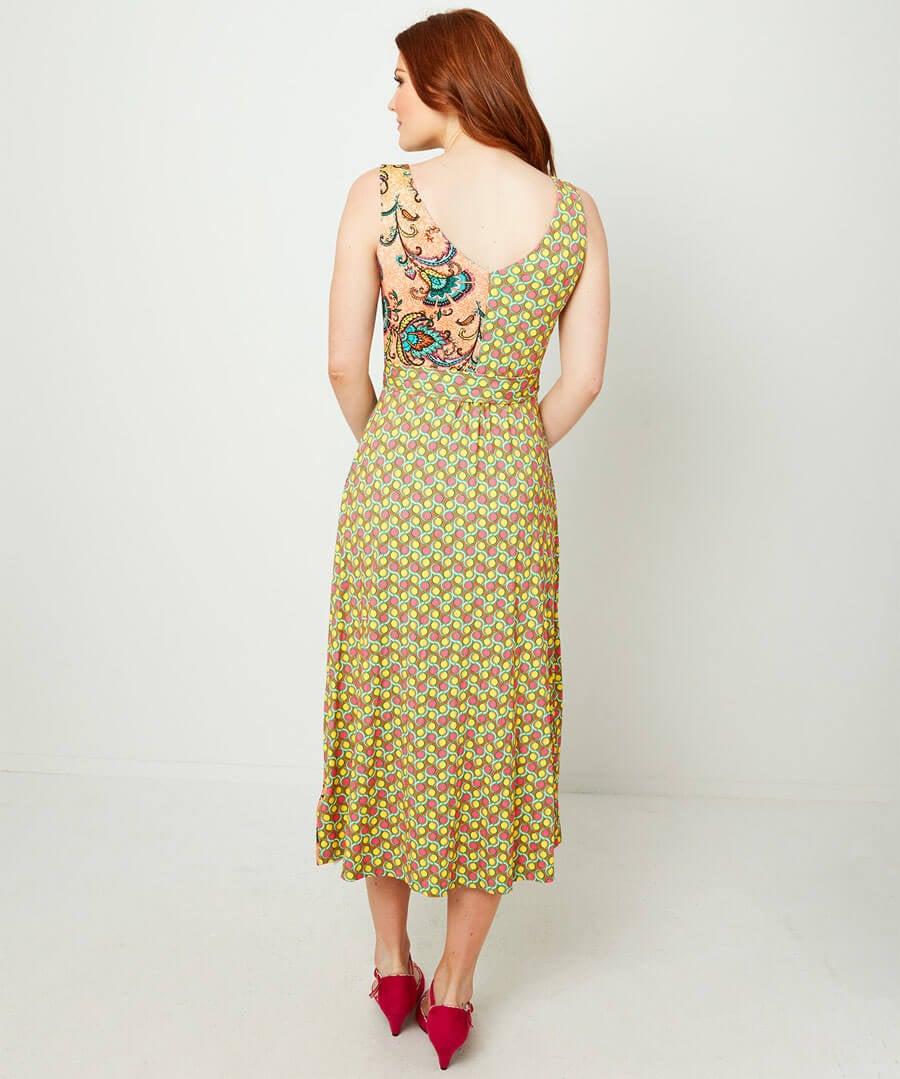 Majestic Mix Up Dress Model Back