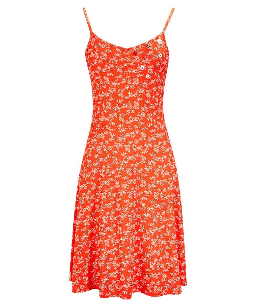 Ditsy Mini Dress Model Front
