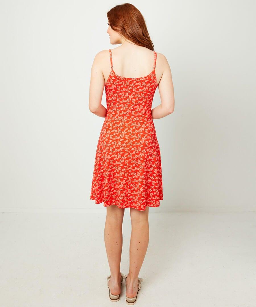Ditsy Mini Dress Model Back