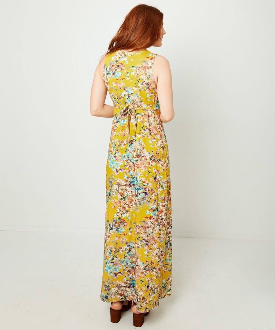 Jersey Maxi Dress Model Back