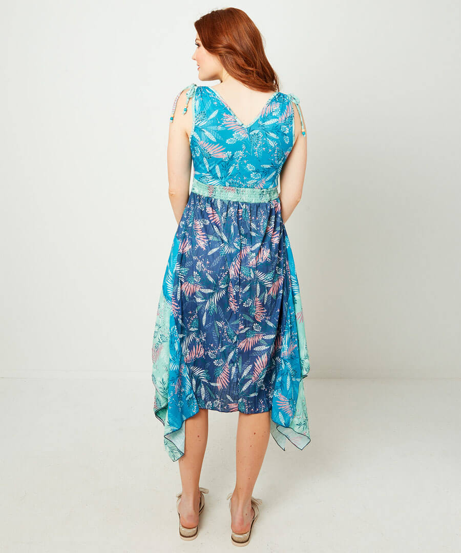 Divine Dippy Hem Dress Model Back