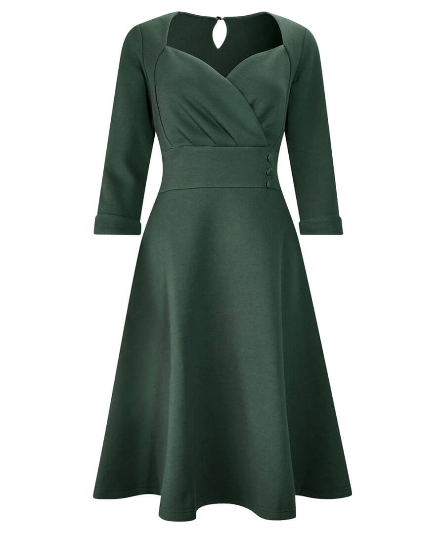 1950s Style Clothing & Fashion Wonderful Winter Dress $60.00 AT vintagedancer.com