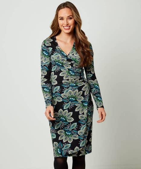 Flattering Wrap Style Dress