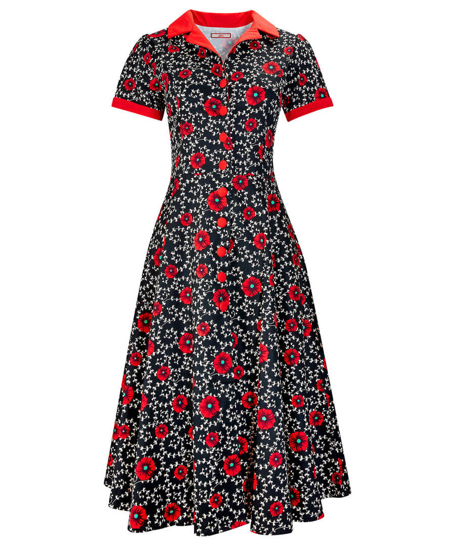 Vintage Shirtwaist Dress History Dancing Diner Dress $55.00 AT vintagedancer.com