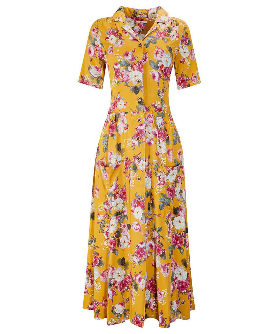 1940s Dresses | 40s Dress, Swing Dress, Tea Dresses Vintage Floral Dress $45.00 AT vintagedancer.com