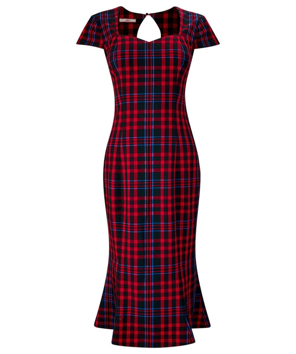 Sweetheart Check Dress