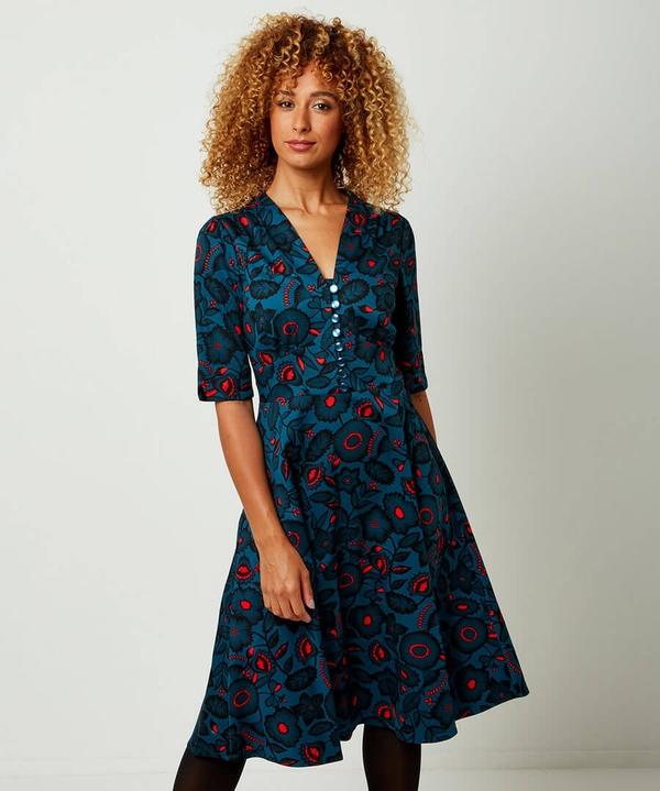 NIght Time Florals Dress