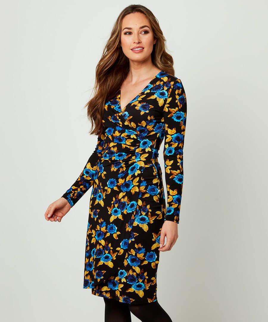 Wrap Dress Model Front