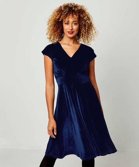 Festive Velvet Dress