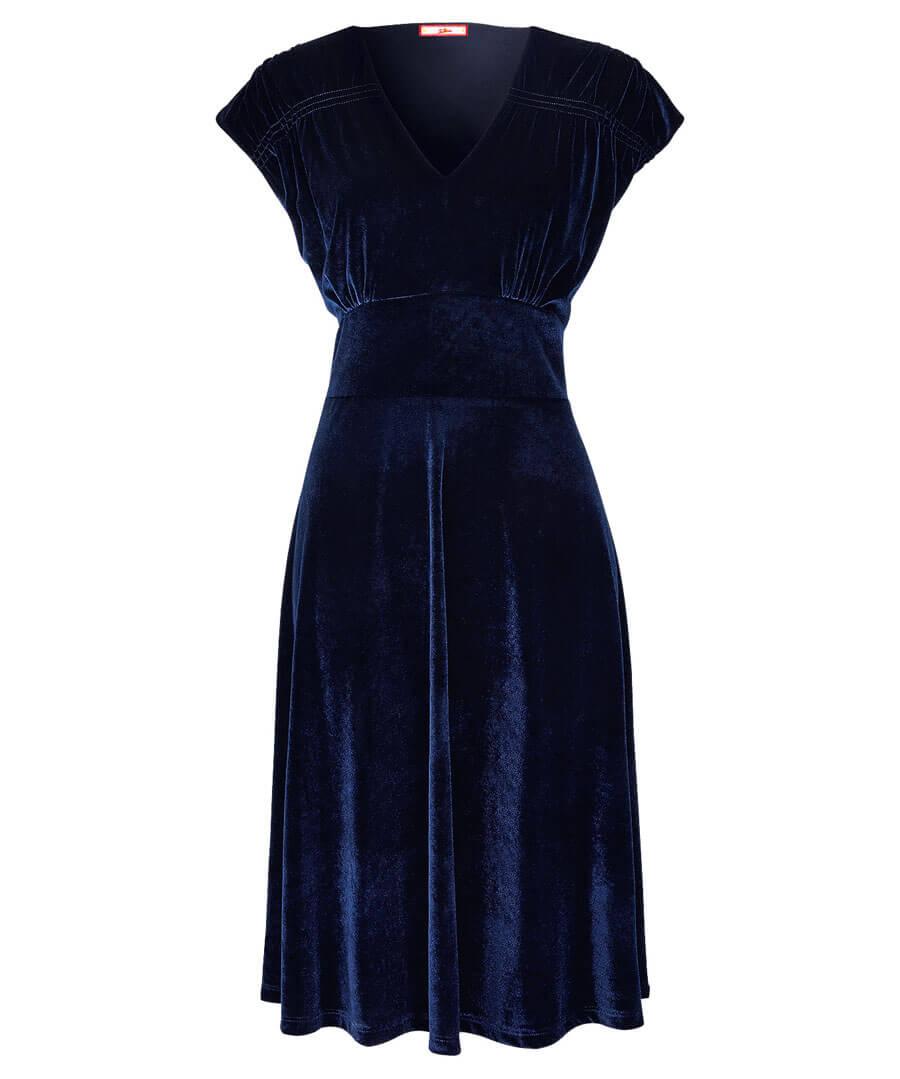 1940s Dresses | 40s Dress, Swing Dress, Tea Dresses Festive Velvet Dress $40.00 AT vintagedancer.com