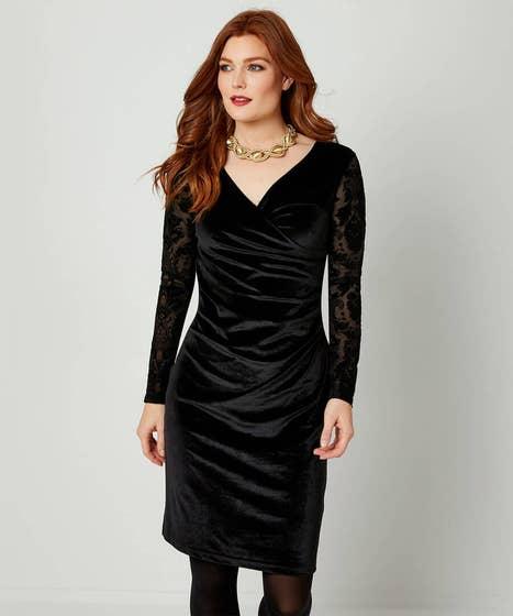 Flirty Velvet Dress Black (10)