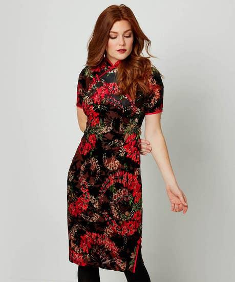 Flirty Flocked Dress