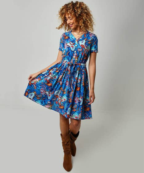 Abstract Paisley Dress