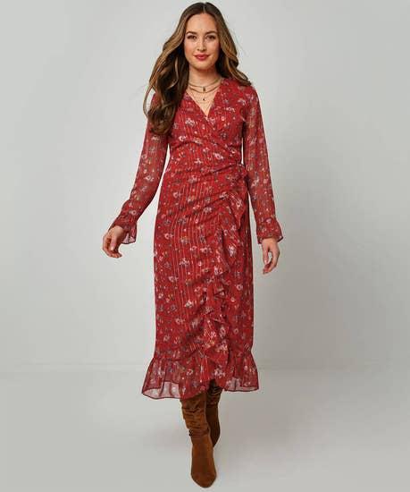 Stunning Sparkle Wrap Dress