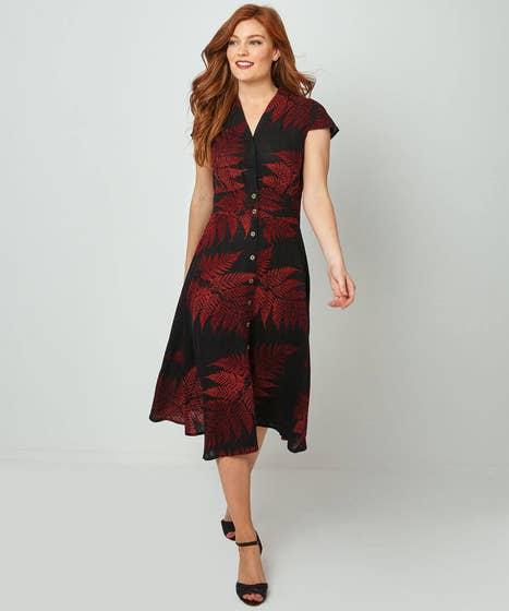 Perfect Palm Linen Mix Dress