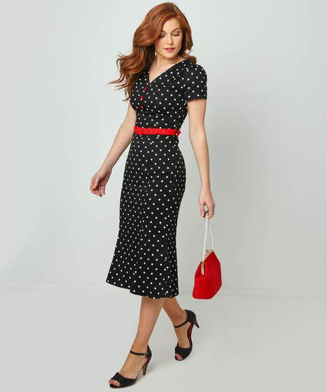 1950s Inspired Fashion: Recreate the Look Retro Inspired Dress $68.00 AT vintagedancer.com