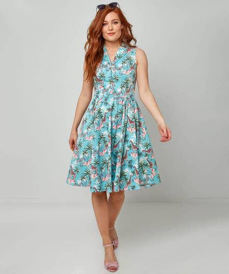 1950s Dresses, 50s Dresses | 1950s Style Dresses On Safari Dress $75.00 AT vintagedancer.com