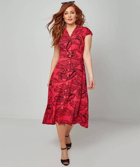 Vibrant Palm Dress