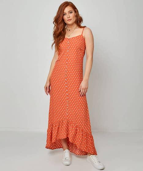 Orange Dotty Dress