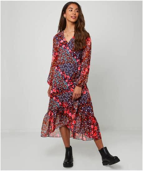 Beautiful Ruffle Wrap Dress