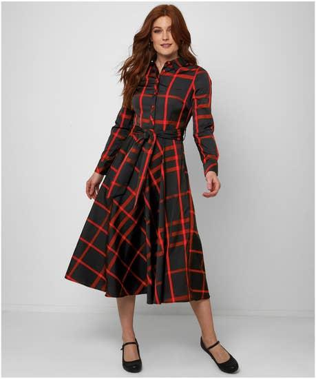 Vintage Chic Check Dress