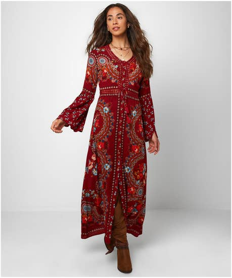 Vintage Western Wear Clothing, Outfit Ideas Boho Babe Dress $84.00 AT vintagedancer.com