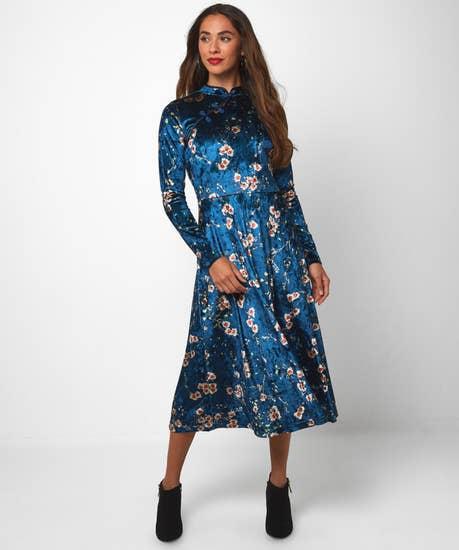 Winter Blossom Dress